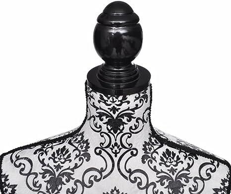 Galapara Mannequin R/églable en Hauteur : 133 168 cm Buste de Couture Mannequin Femme Noir et Blanc Buste Vitrines Boutique