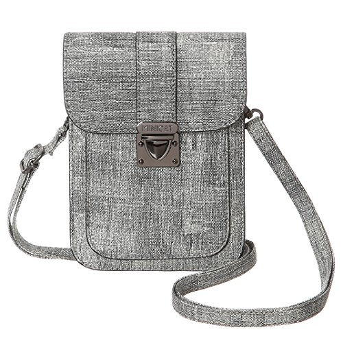MINICAT Cell Small Gray2 Light Bags Phone Women Crossbody Slots Card Synthetic Insides Leather Purse Wallet rIwrzqT