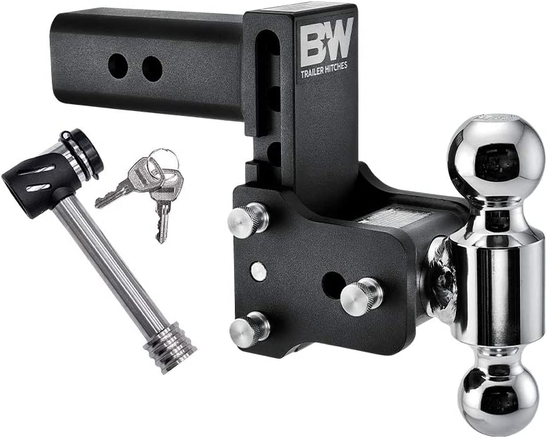with Lock B/&W Tow /& Stow 5 Drop 14,500 GTW Fits 2.5 Receiver Dual Ball 2 x 2-5//16
