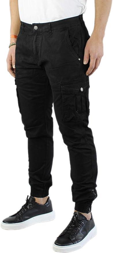 Instinct Pantaloni Cargo con Tasche Laterali Uomo Slim Fit Y-3022