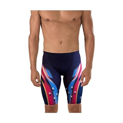 baf27ab37a5 Amazon.com: Speedo 7725600 Men's LZR Racer X Printed Kneeskin Jammer:  Clothing