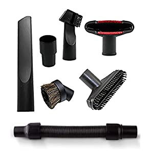 Wonlives Car Hose Connection Kit Car Hose Fittings Vacuum Stretch Cleaner Hose Flexible Extension Hose Attachment Brush Nozzle Crevice Tools for Most Vacuum Cleaners 32mm -35mm