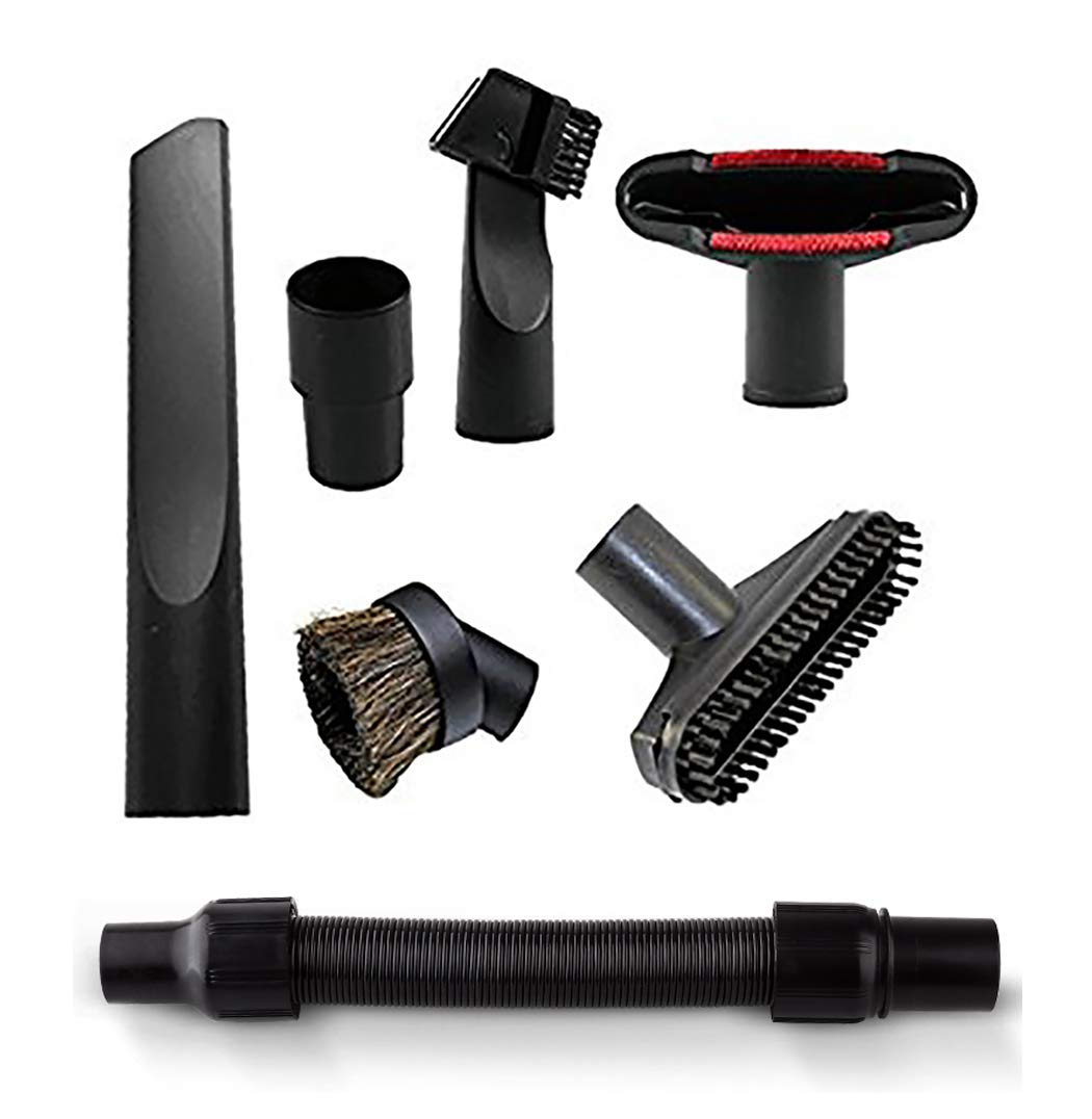 and 35mm 1 3//8 inch 1 1//4 inch Vacuum Attachments E.LUO Universal Replacement 32mm 7 Set Vacuum Accessories Dusty Brush Kit