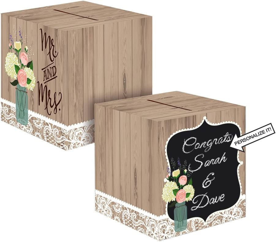 Creative Converting 088706 Limited time sale Rustic Wedding Card Box Singl Holder Weekly update