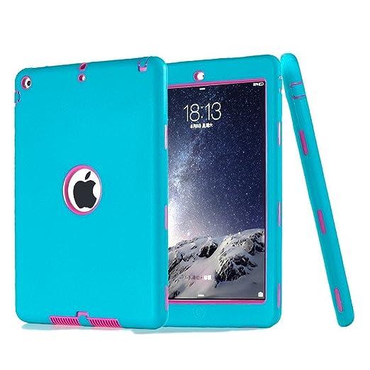 161 opinioni per iPad Air Custodia, TKOOFN Custodia Ibrida Antiurto Resistente Tre-strati Cover +