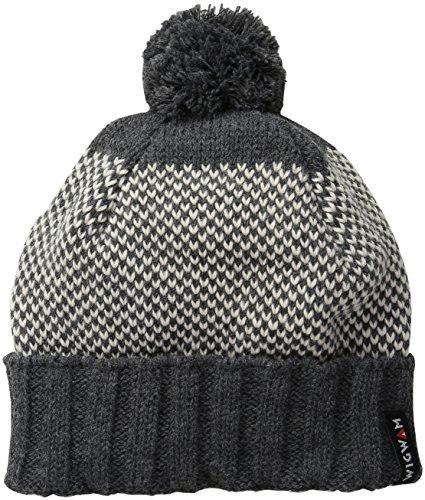 Wigwam Men's Elements Acrylic Pom Hat, Charcoal, One Size ()