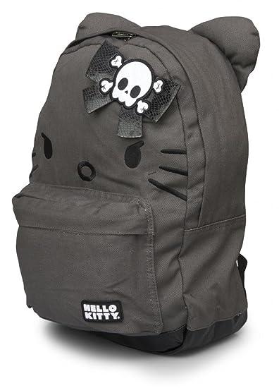 abfcc84626fa Amazon.com  Hello Kitty Grey Angry Kitty Backpack by Loungefly  Shoulder  Handbags  Clothing