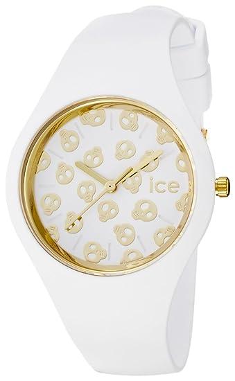Ice-Watch - ICE skull White Gold - Reloj bianco para Mujer con Correa de
