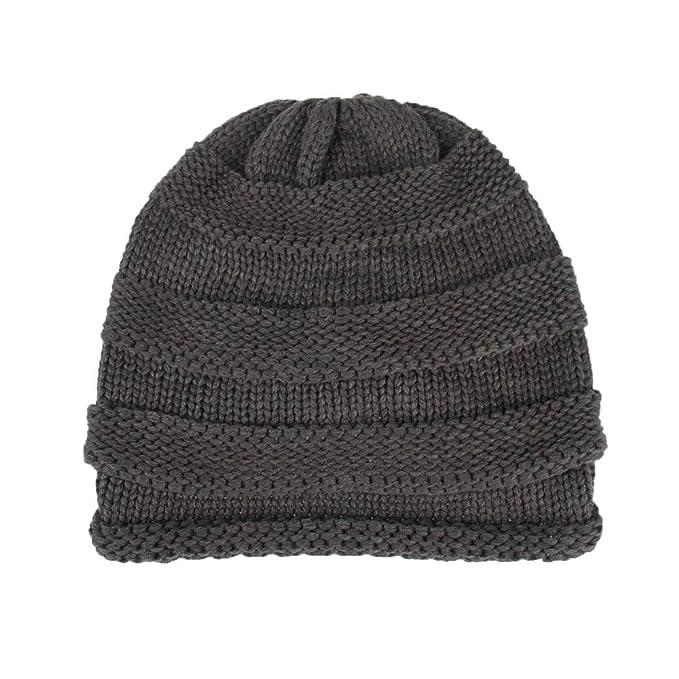 YWLINK Unisex Baggy Warm Winter Wolle Stricken Ski M/üTze Herren Frauen Sch/äDel Slouchy Kappen Hut Pfahlkappe