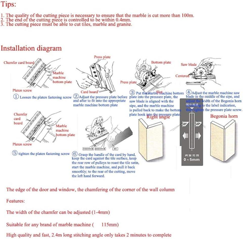 M/áquina De Chafl/án De Azulejos De 45 /° Gu/ía De /ángulo De Aleaci/ón De Aluminio Manual De M/últiples Funciones M/áquina De Corte De Chafl/án Coner De Piedra De Ladrillo De Piedra