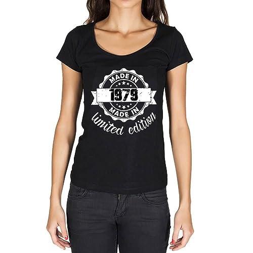 Made in 1979 Limited Edition Mujer Camiseta Negro Regalo De Cumpleaños