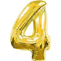 Kullan At Market 4 Rakam Folyo Balon, Altın, 90 cm