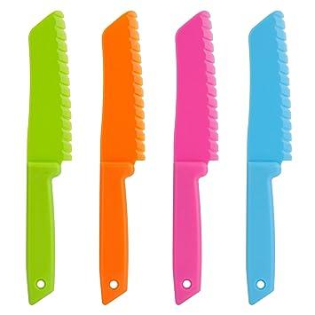 Compra ONUPGO Set de Cuchillos de Cocina de plástico de 4 ...