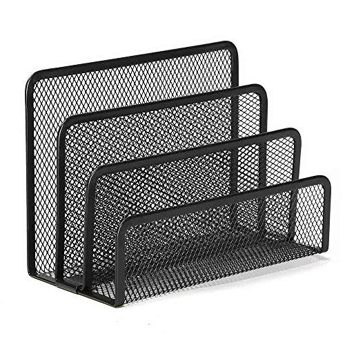 3 Bereiche Metall-Schreibtisch Mesh-Briefpapier Stapeln Sorter Inhaber Collection schwarz