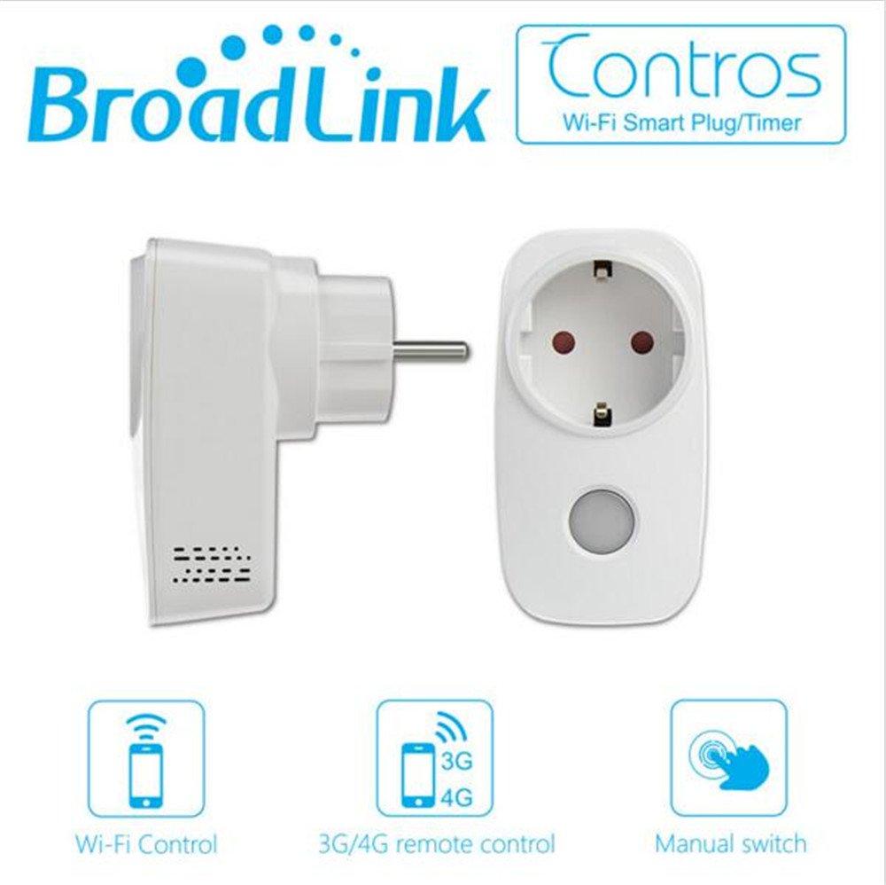 Broadlink Sp3 Presa Intelligente Wi-Fi con Controllo Remoto,Controllo Funzione di Temporizzazione Interruttore Presa Elettrica Protezione da Sovraccarico,senza Fili per Casa e Ufficio Controllato da
