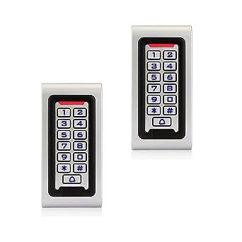 Retekess S601EM-W Control de Acceso Teclado Acceso Puerta Teclado Retroiluminado Numérico IP68 Impermeable A Prueba (2)