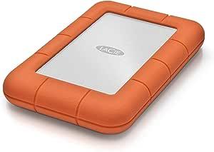 LaCie Rugged Mini 1TB External Hard Drive Portable HDD – USB 3.0 USB 2.0 compatible, Drop Shock Dust Rain Resistant Shuttle Drive, for Mac and PC Computer Desktop Workstation PC Laptop (LAC301558)