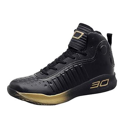 4d6ecfe023bd4 Amazon.com: JJLIKER Men's Womens High Top Basketball Shoes Fashion ...