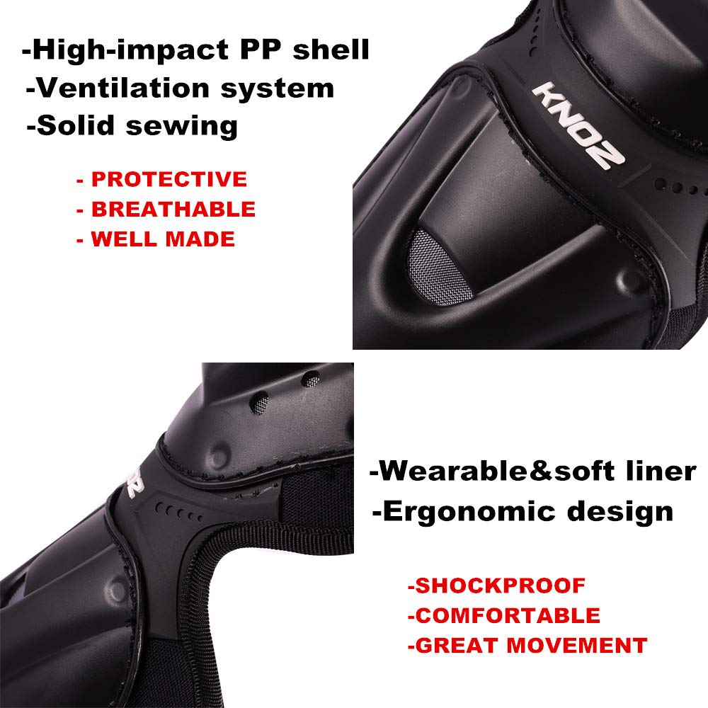 Huntingwolf Racing Knee Shin Elbow Guards Motorcycle Motocross Protective Gear
