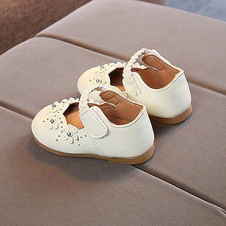 K-youth Flores Zapatos de Baile Zapatos Bebe Niña con Suela Primeros Pasos Bautizo Zapatos de Princesa Chicas Sandalias de Vestir Niña Zapatos Niña Fiesta Cumpleaños