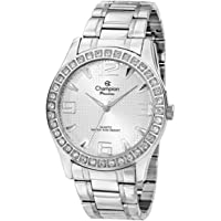 Relógio Feminino Champion Passion Prata Strass CH24704Q