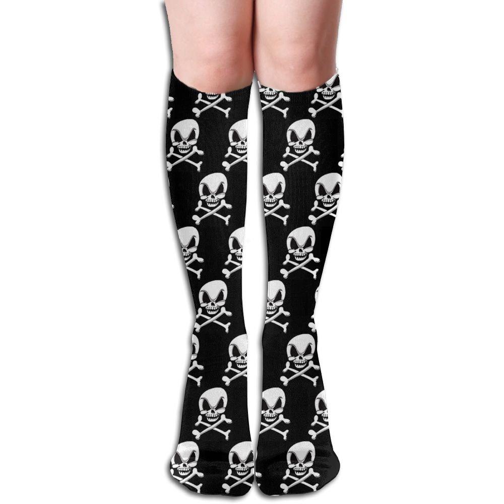 InnoU Cute Skeleton Novelty Knee High Socks Stockings For Girl And Women 19.6 Inches