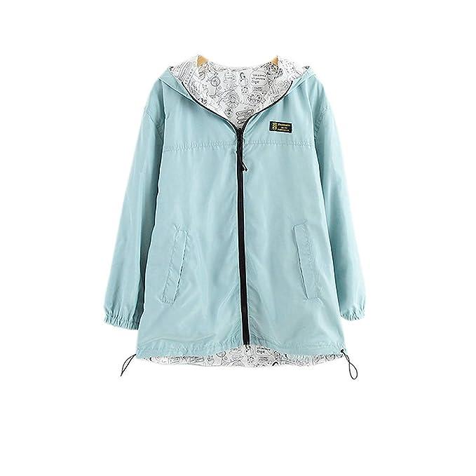 Amazon.com: Harajuku Pastel Baby Blue Bomber Jacket Hoodies ...