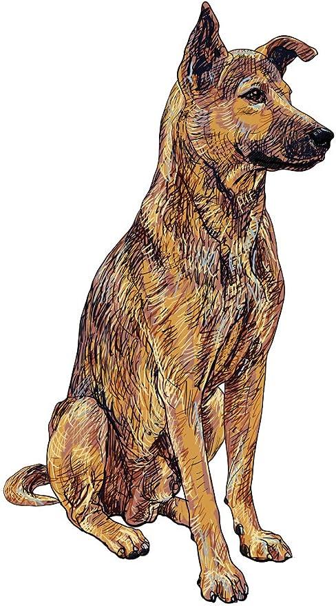 Pegatina de pared Salón Perro pastor alemán Motivo animal para ...
