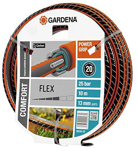 Gardena Comfort Flex Schlauch 9 x 9, 13 mm, 1/2 Zoll, 10 m ohne Systemteile, 18030-20