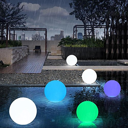 MOXIN Led Light Ball Colorful Remote Control Pe Waterproof Plastic Built-In Lithium Battery Bedroom study , 6 by moxin