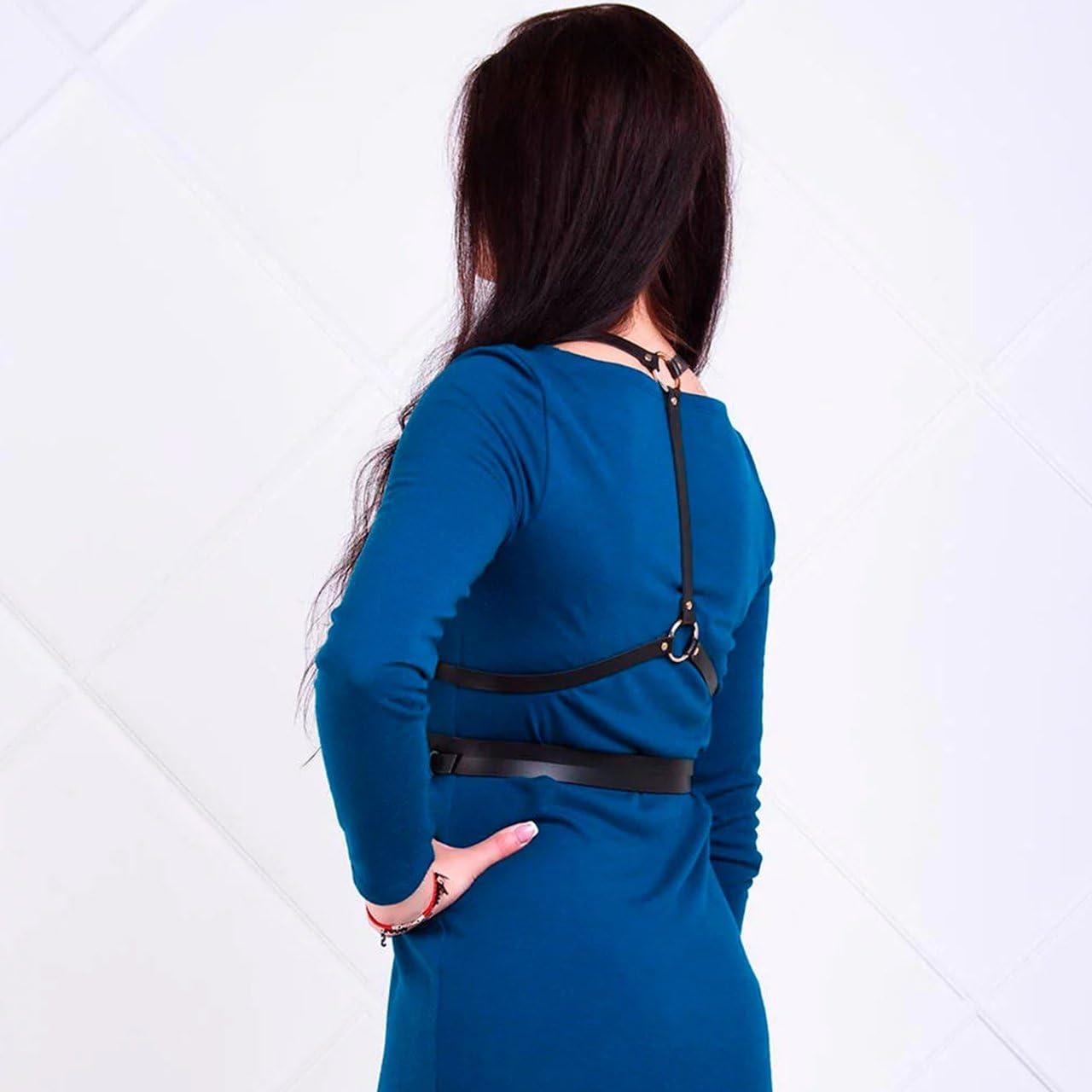Homelix Womens Punk leather Waist Belts Straps Body Harness Belt Adjustable