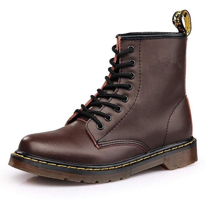 QIKAI Zapatos Militares Botas Altas De Martin Para Hombre, Más Botines De Terciopelo. Botas Militares Botas De Nieve Al Aire Libre: Amazon.es: Ropa y ...