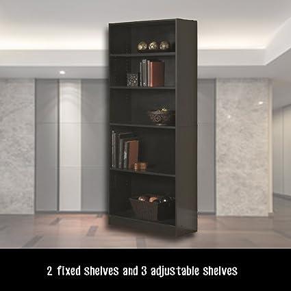 Fantastic Amazon Com Tall Narrow Bookshelves 5 Shelf Standard Beutiful Home Inspiration Xortanetmahrainfo