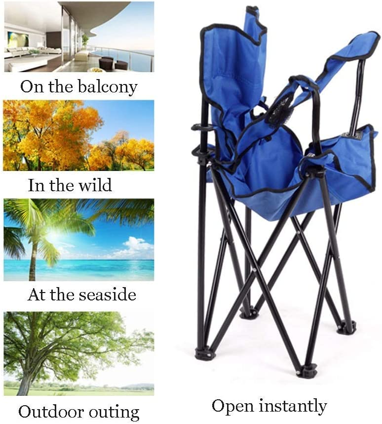 Camping Chair, Portable Folding with Carry Bag and Cup Holder, Perfect for Home/Patio/Decking/Holiday/Beach,A D