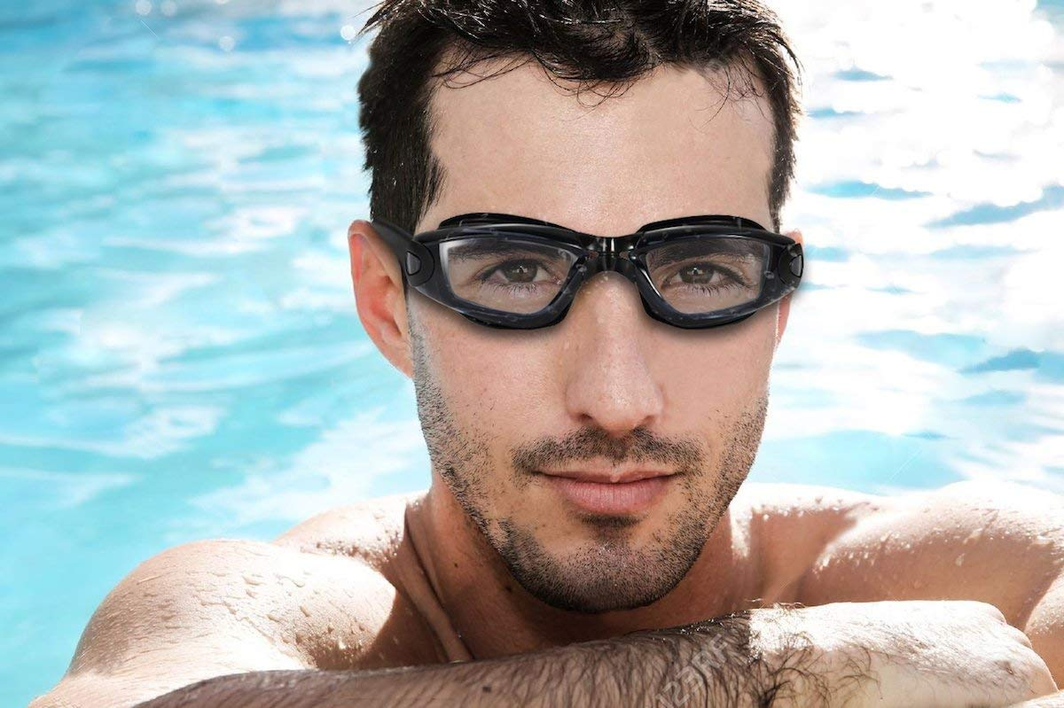 Swimming Goggles Cap lianshun Swim Goggles Anti Fog UV Protection Adult Men Women Youth Child Kids Nose Clip Ear Plugs