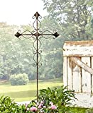 The Lakeside Collection Metal Cross Stake Curved Scroll