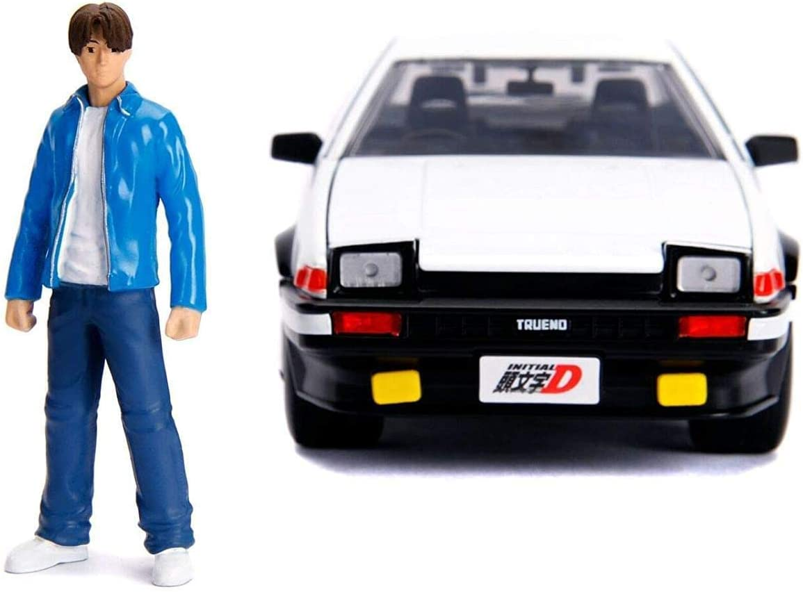 Toyota Trueno 1986 Initial-D weiß mit Takumi Figur Modellauto 1:24 Jada Toys