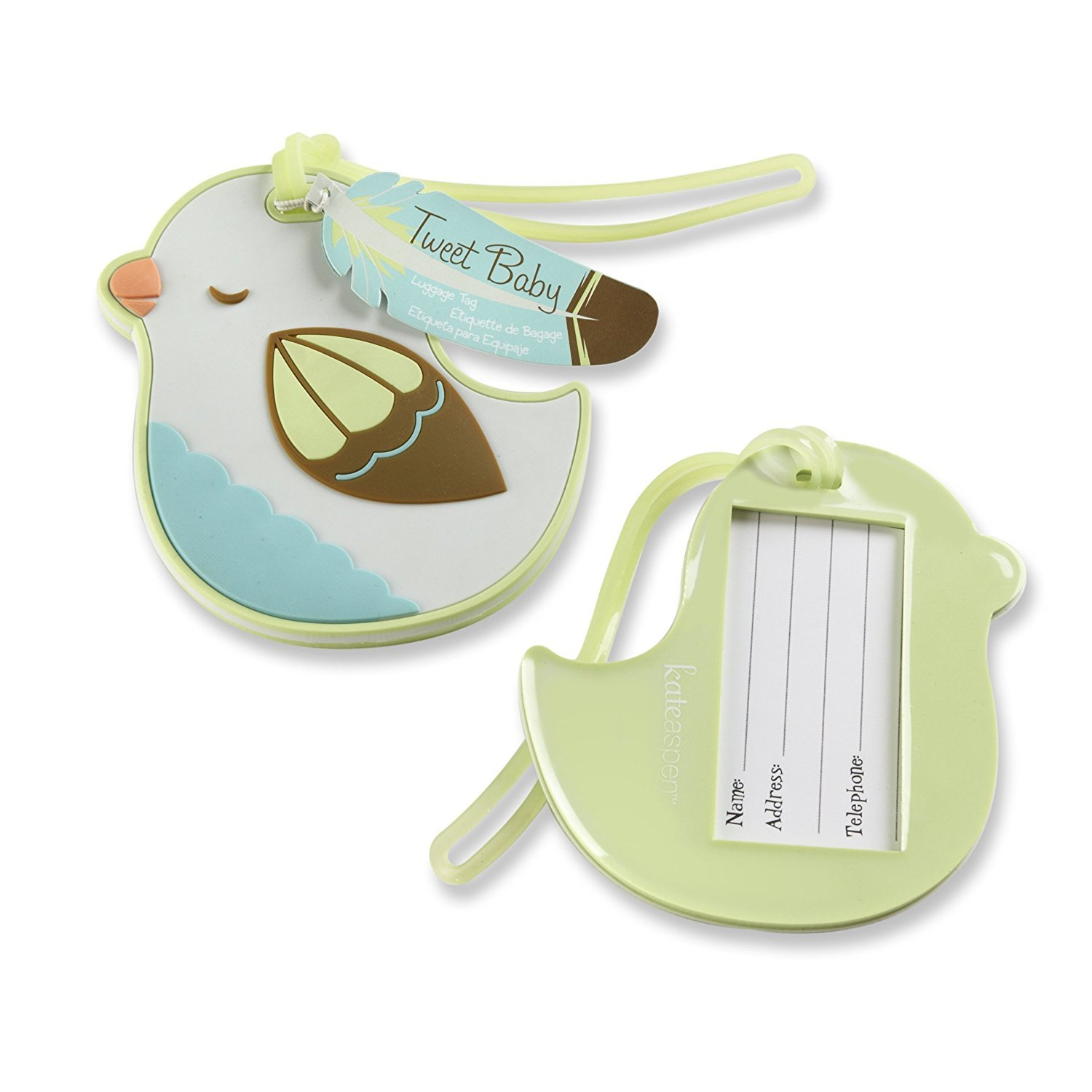 96pcs Tweet Baby Bird Luggage Tag For Baby Shower Gifts & Wedding Favors