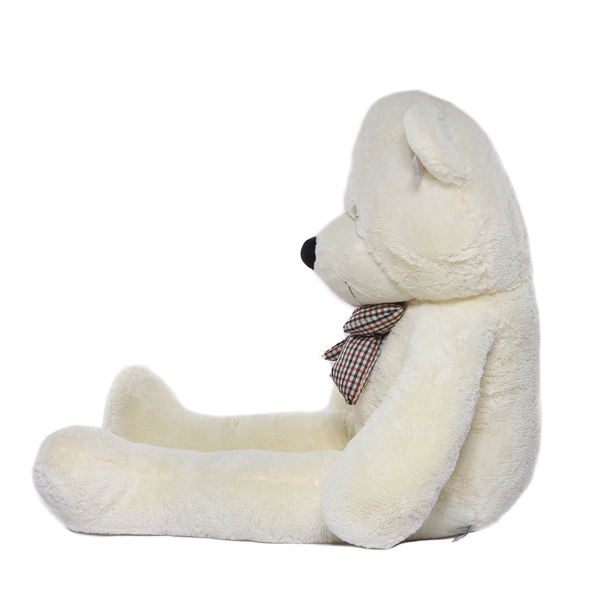 VERCART Jouet Enfant Grand Nounours 39 inches G/éant Ours en Peluche Teddy Bear Blanc 120CM