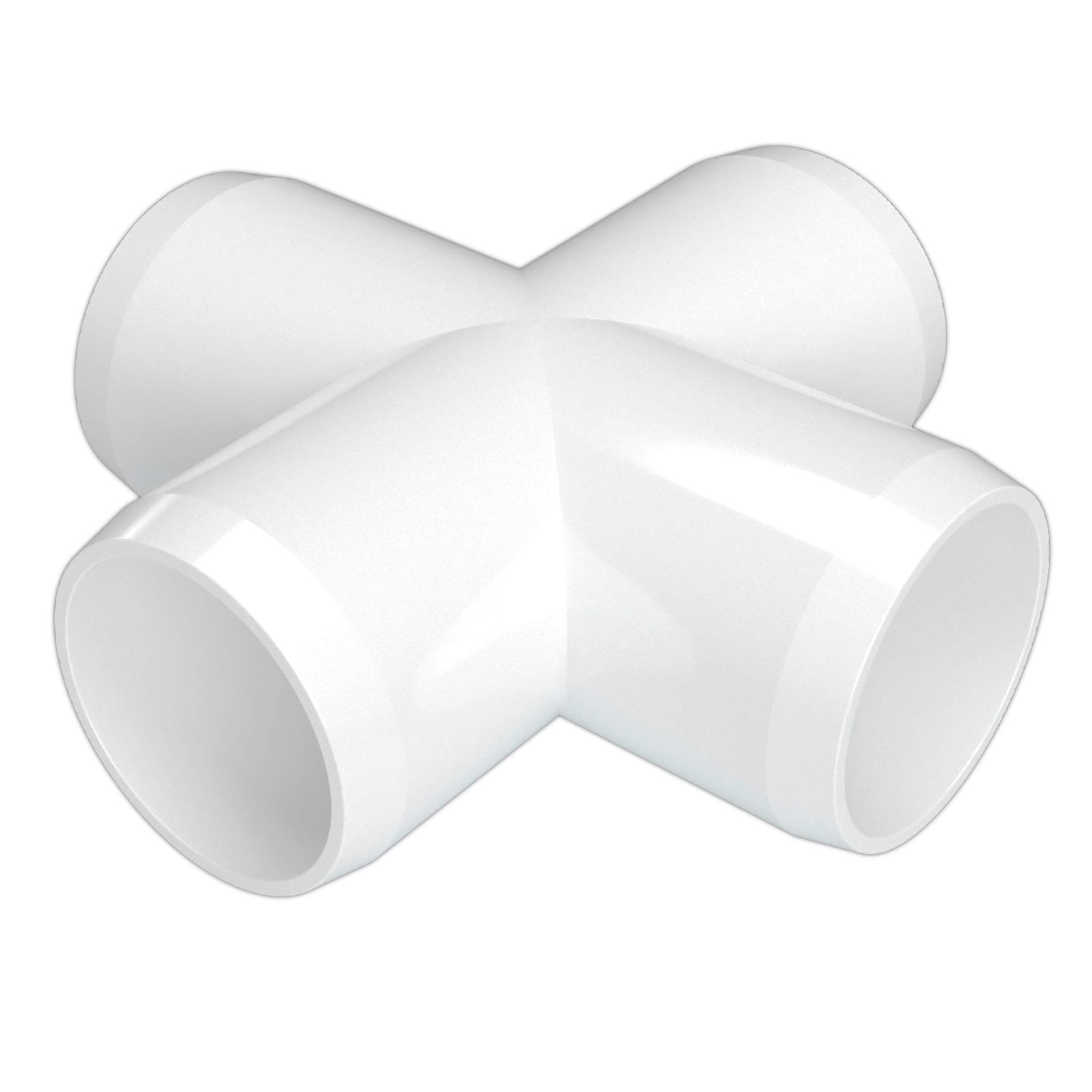 FORMUFIT F012CRX-WH-10 Cross PVC Fitting, Furniture Grade, 1/2'' Size, White (Pack of 10)