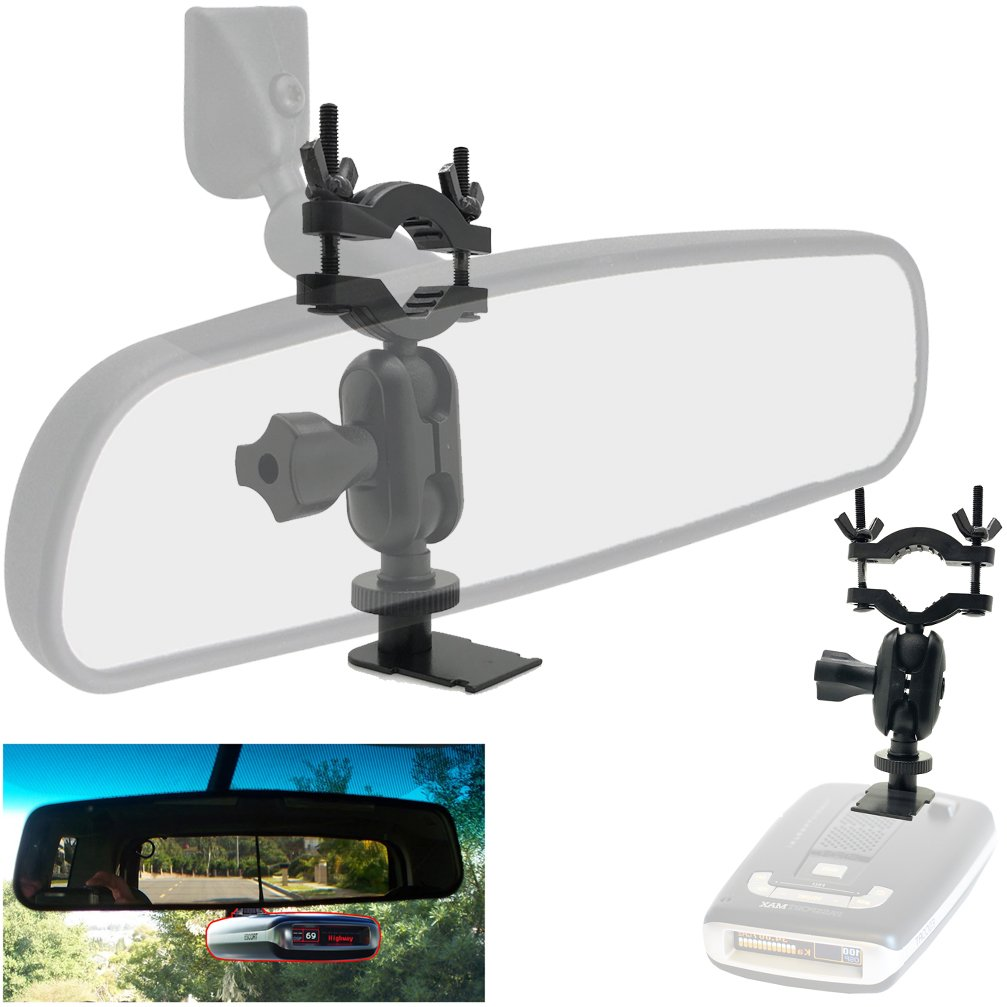 Easy Install Car Rearview Mirror Radar Detector Mount for Escort Max/Max2/Max 2/Max II/Max360 Radar (THIS IS NOT FOR MAX360C MAGNETIC cradle radar)