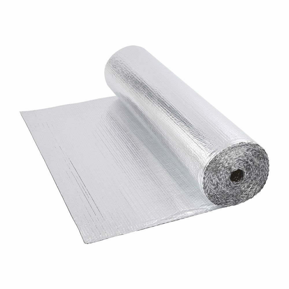 Biard Double Aluminium Single Layer Bubble Wrap Foil Insulation Roll - 1.2m x 5m (6m²) for use with Loft, Floor, Wall, Motorhome, Boat & Shed - 200g per m² Boat & Shed - 200g per m²