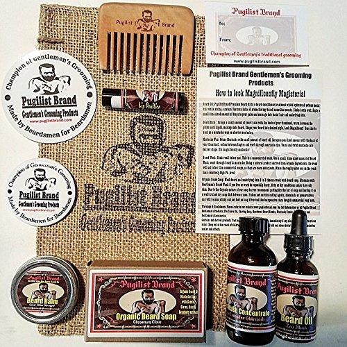 Beardsman's Bundle: Beard Care & Mustache Styling Kit (Zen Musk) by Pugilist Brand