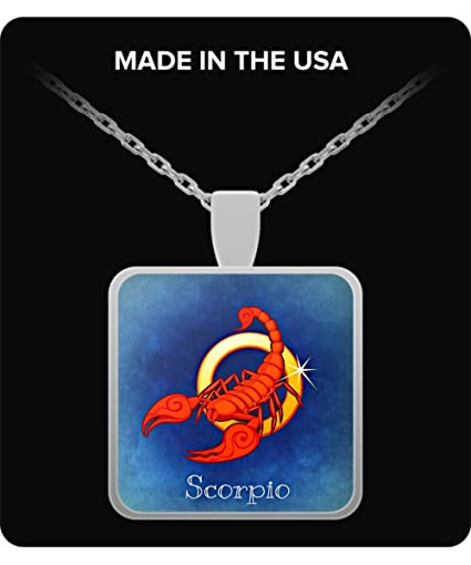 Beautiful Scorpio October 23 November 21 Square Pendant Necklace