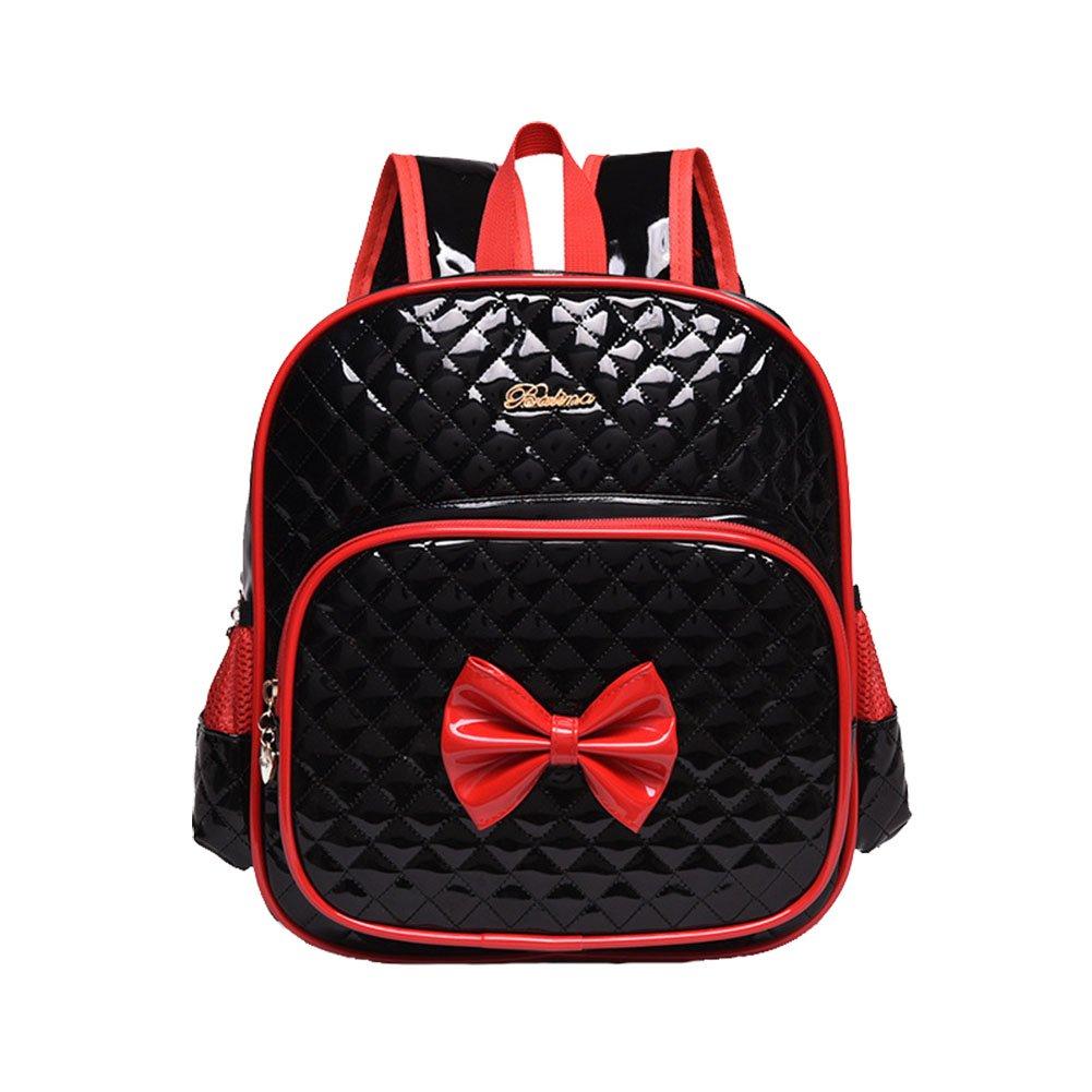 [ムーンウィンド]Moonwind Bow Waterproof Kindergarten Kids Toddler Backpack School Book Bag 332Black [並行輸入品]   B01N534QCE