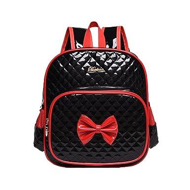 c77cc502911 Moonwind Bow Waterproof Kindergarten Kids Toddler Backpack Girls School  Book Bag (Black)