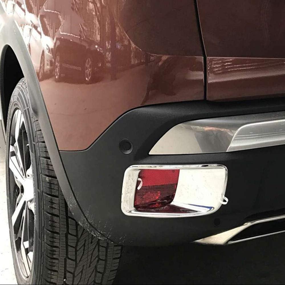 Qwjdsb F/ür Peugeot 3008 GT 2017 2018 2019 2020 Chrom-Heckleuchtenabdeckung Verkleidung Nebelscheinwerfer Motorhaube Zubeh/ör Auto Styling