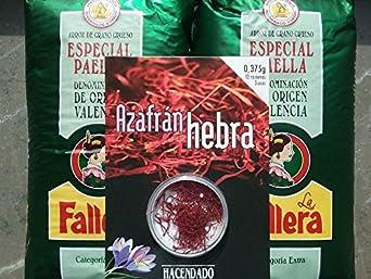 Lote de 2 kg arroz especial para paella La Fallera + 0,375gr. Azafrán Hacendado
