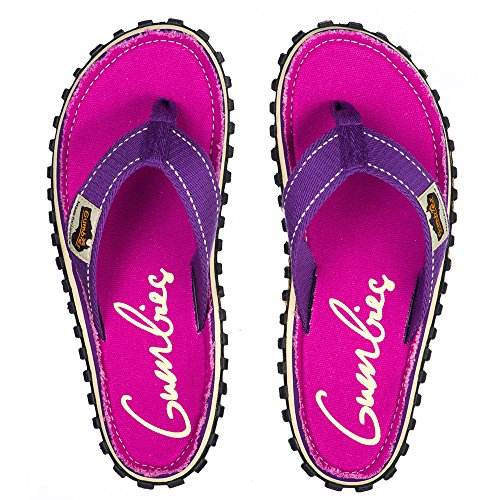 Purple Flip Flops Islander Gumbies Red Manly Signed Canvas Unisex SxwOqp