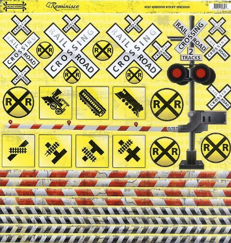 Road Signs Railroad Signs CS Sticker
